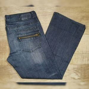 G By Guess Marlon Low Straight Button Fly Jeans